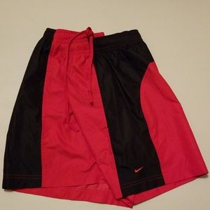 NIKE Red Black Badgers UW Madison polyester shorts